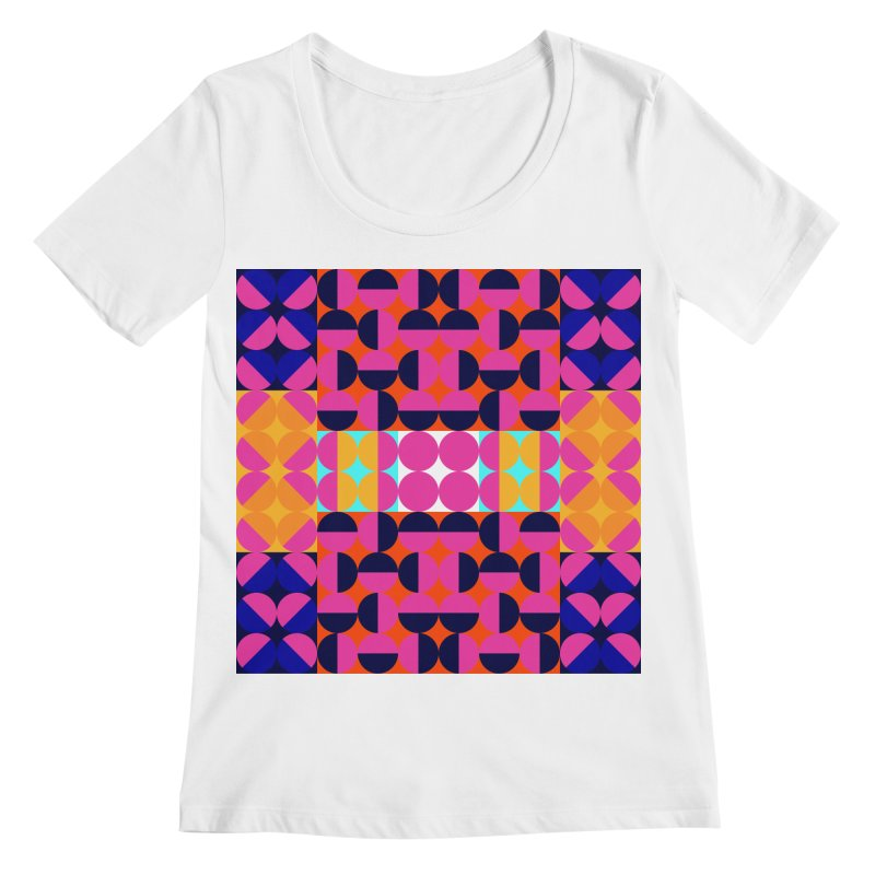 Geometric Design Series 4, Poster 7(Version 2) Women's Regular Scoop Neck by Madeleine Hettich Design & Illustration