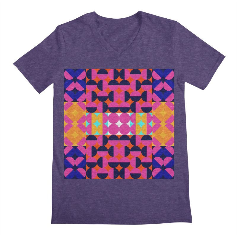 Geometric Design Series 4, Poster 7(Version 2) Men's Regular V-Neck by Madeleine Hettich Design & Illustration