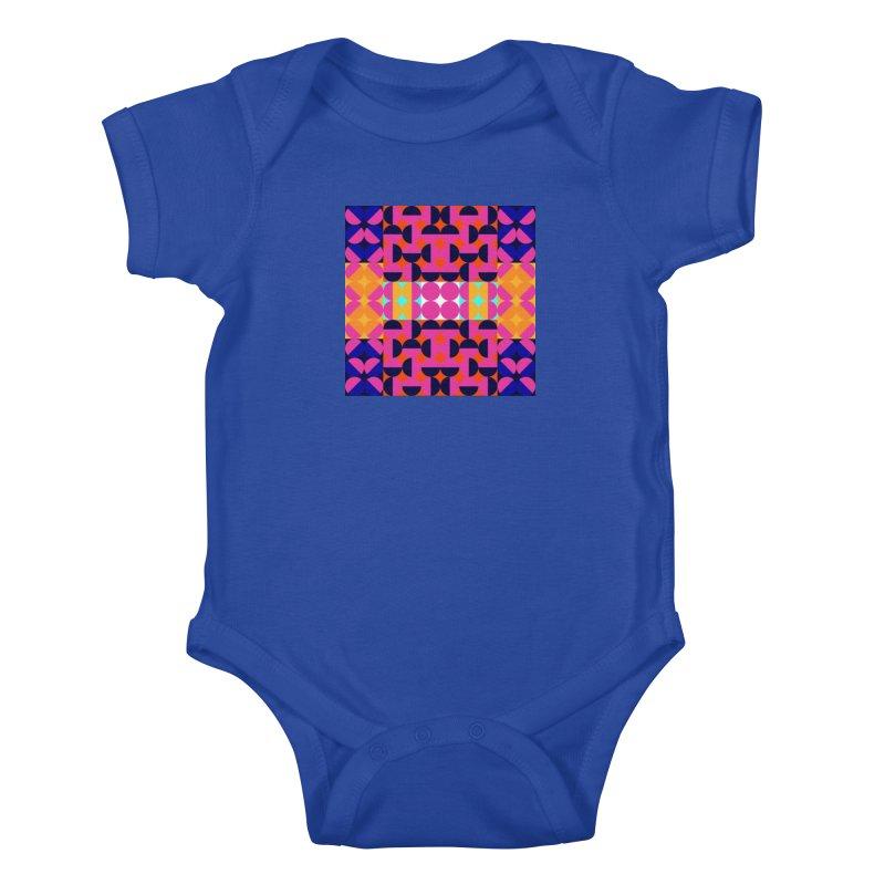 Geometric Design Series 4, Poster 7(Version 2) Kids Baby Bodysuit by Madeleine Hettich Design & Illustration