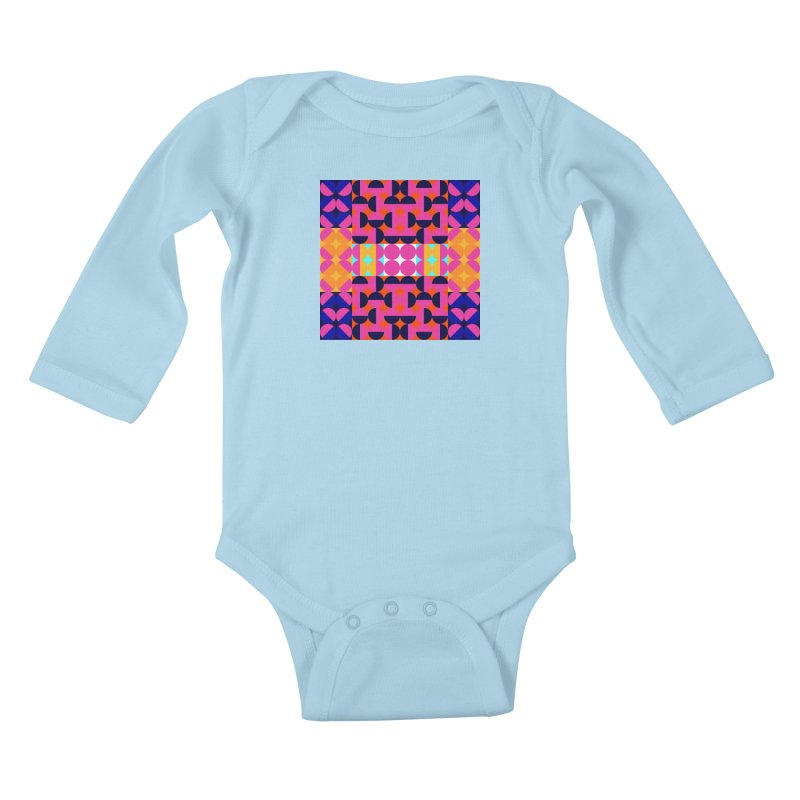Geometric Design Series 4, Poster 7(Version 2) Kids Baby Longsleeve Bodysuit by Madeleine Hettich Design & Illustration