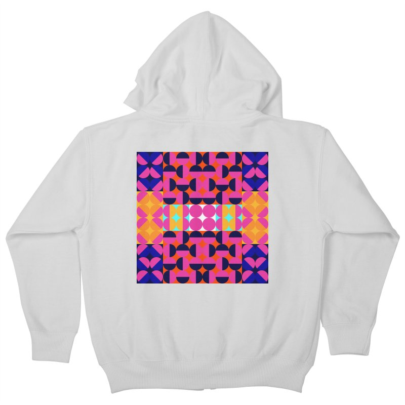 Geometric Design Series 4, Poster 7(Version 2) Kids Zip-Up Hoody by Madeleine Hettich Design & Illustration