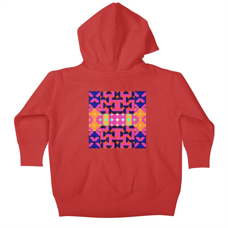 Geometric Design Series 4, Poster 7(Version 2) Kids Baby Zip-Up Hoody by Madeleine Hettich Design & Illustration