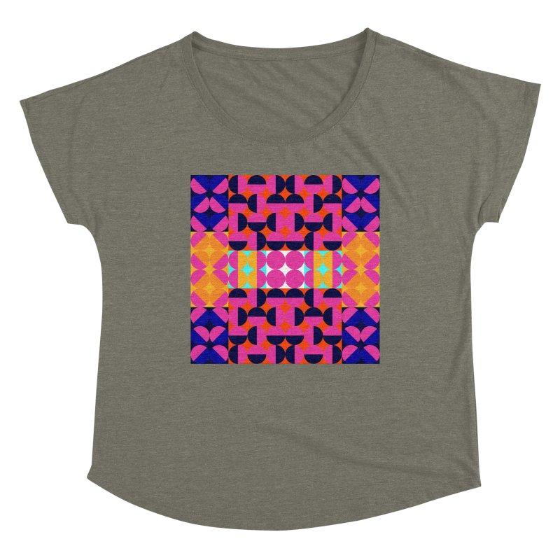 Geometric Design Series 4, Poster 7(Version 2) Women's Dolman Scoop Neck by Madeleine Hettich Design & Illustration