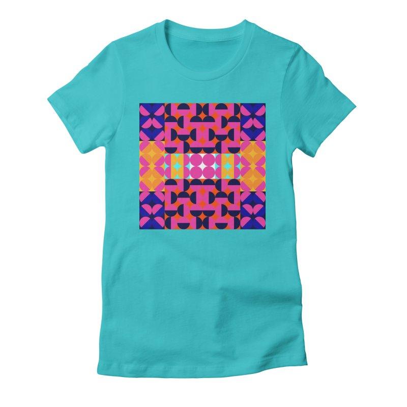 Geometric Design Series 4, Poster 7(Version 2) Women's Fitted T-Shirt by Madeleine Hettich Design & Illustration