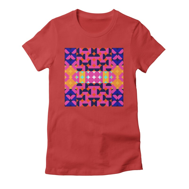Geometric Design Series 4, Poster 7(Version 2) Women's Fitted T-Shirt by Madeleine Hettich Design & Illustration