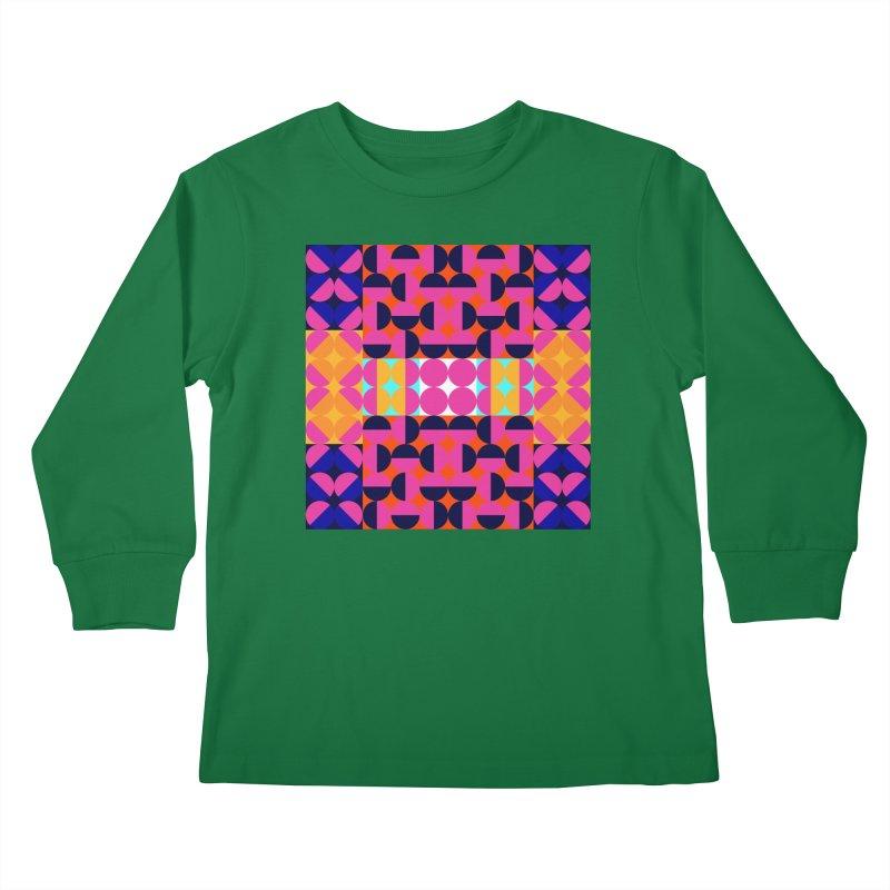 Geometric Design Series 4, Poster 7(Version 2) Kids Longsleeve T-Shirt by Madeleine Hettich Design & Illustration