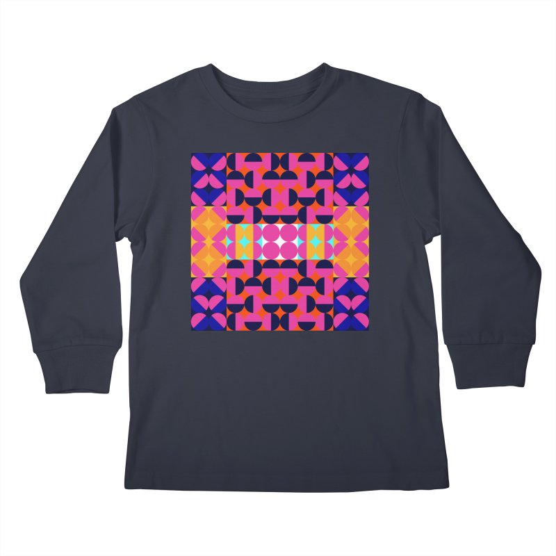 Geometric Design Series 4, Poster 7(Version 2) Kids Longsleeve T-Shirt by Madeleine Hettich Design & Illustration