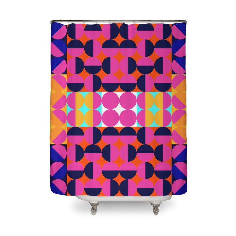 Geometric Design Series 4, Poster 7(Version 2) Home Shower Curtain by Madeleine Hettich Design & Illustration