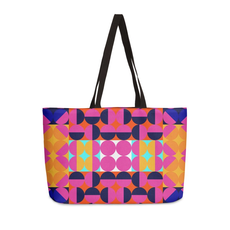 Geometric Design Series 4, Poster 7(Version 2) Accessories Weekender Bag Bag by Madeleine Hettich Design & Illustration