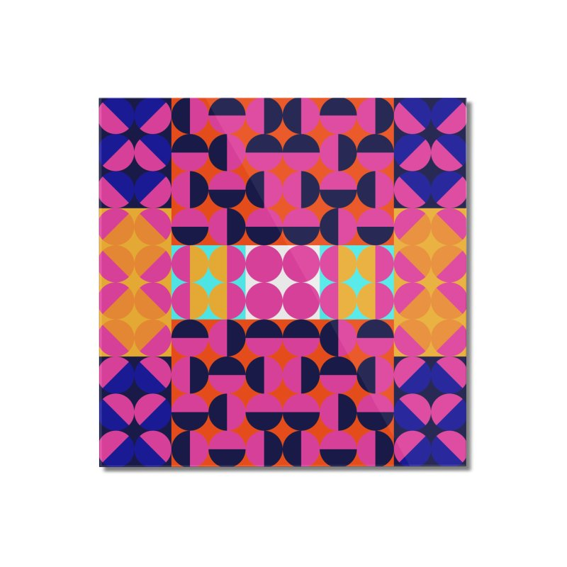 Geometric Design Series 4, Poster 7(Version 2) Home Mounted Acrylic Print by Madeleine Hettich Design & Illustration