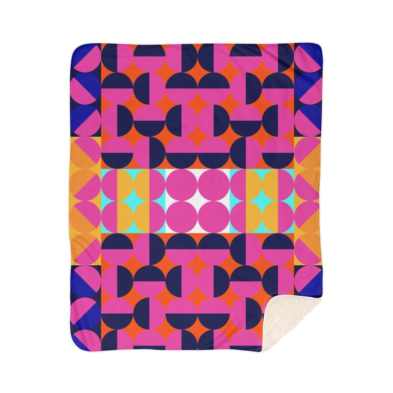 Geometric Design Series 4, Poster 7(Version 2) Home Sherpa Blanket Blanket by Madeleine Hettich Design & Illustration