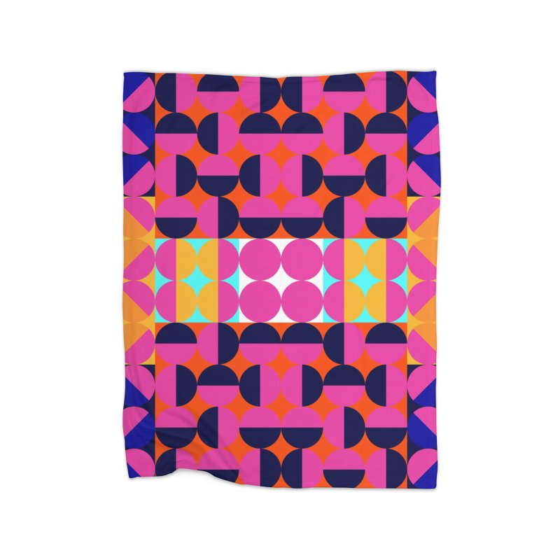 Geometric Design Series 4, Poster 7(Version 2) Home Fleece Blanket Blanket by Madeleine Hettich Design & Illustration