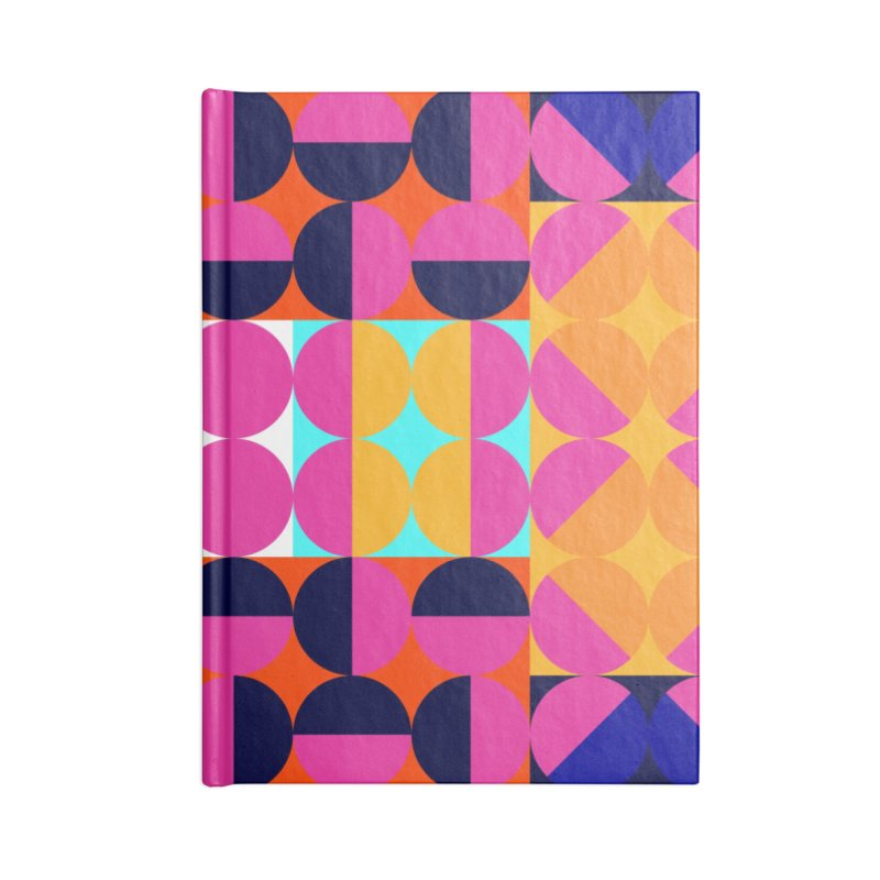 Geometric Design Series 4, Poster 7(Version 2) Accessories Lined Journal Notebook by Madeleine Hettich Design & Illustration