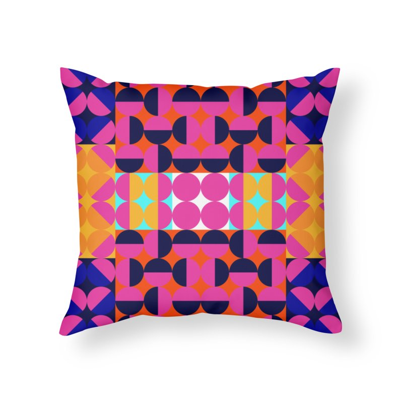 Geometric Design Series 4, Poster 7(Version 2) Home Throw Pillow by Madeleine Hettich Design & Illustration