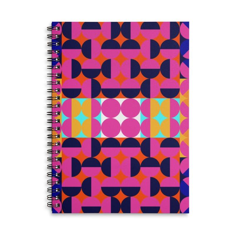Geometric Design Series 4, Poster 7(Version 2) Accessories Lined Spiral Notebook by Madeleine Hettich Design & Illustration