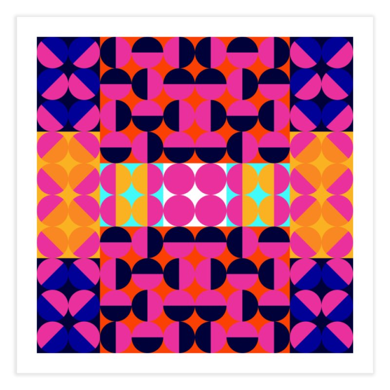 Geometric Design Series 4, Poster 7(Version 2) Home Fine Art Print by Madeleine Hettich Design & Illustration