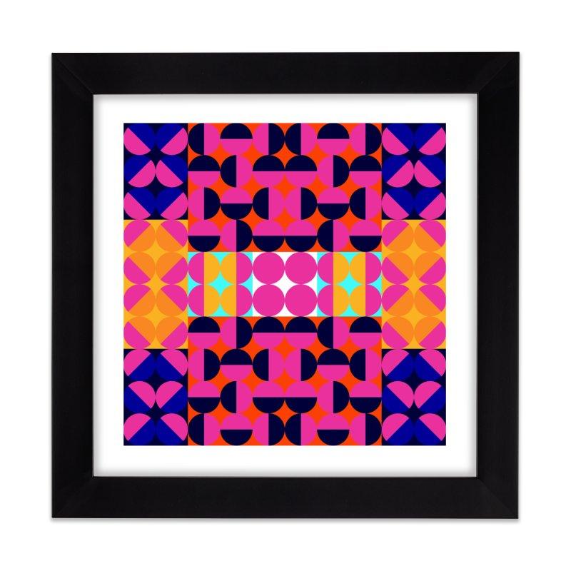 Geometric Design Series 4, Poster 7(Version 2) Home Framed Fine Art Print by Madeleine Hettich Design & Illustration