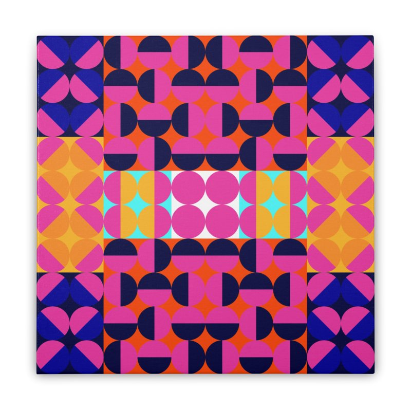 Geometric Design Series 4, Poster 7(Version 2) Home Stretched Canvas by Madeleine Hettich Design & Illustration
