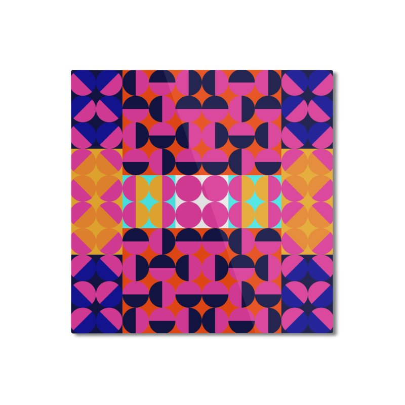 Geometric Design Series 4, Poster 7(Version 2) Home Mounted Aluminum Print by Madeleine Hettich Design & Illustration