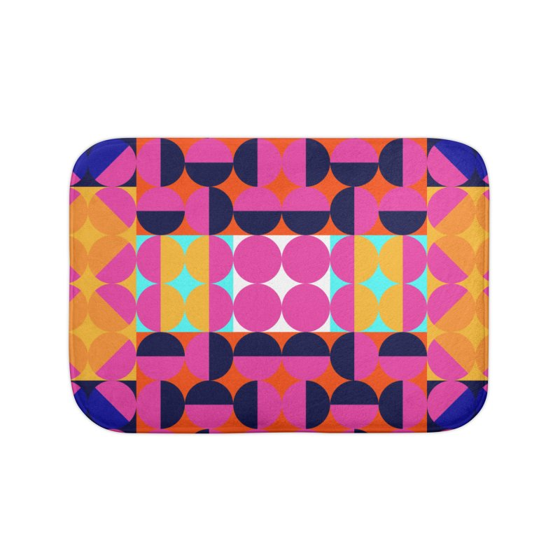 Geometric Design Series 4, Poster 7(Version 2) Home Bath Mat by Madeleine Hettich Design & Illustration