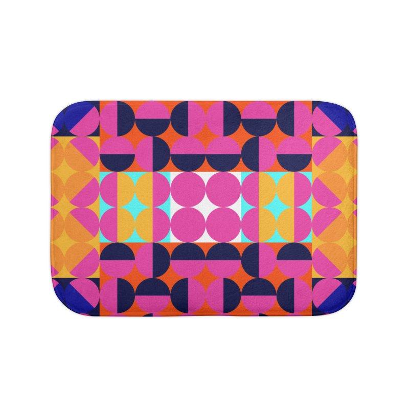 Geometric Design Series 4, Poster 7(Version 2) Home Bath Mat by Madeleine Hettich Design & Illustration