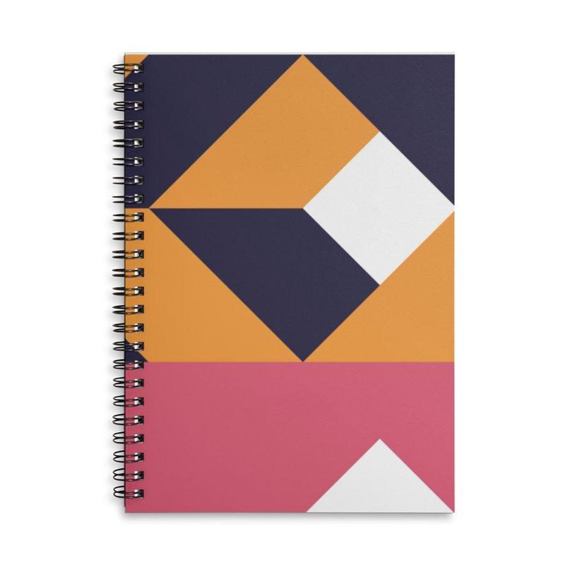 Geometric Design Series 4, Poster 6 Accessories Lined Spiral Notebook by Madeleine Hettich Design & Illustration