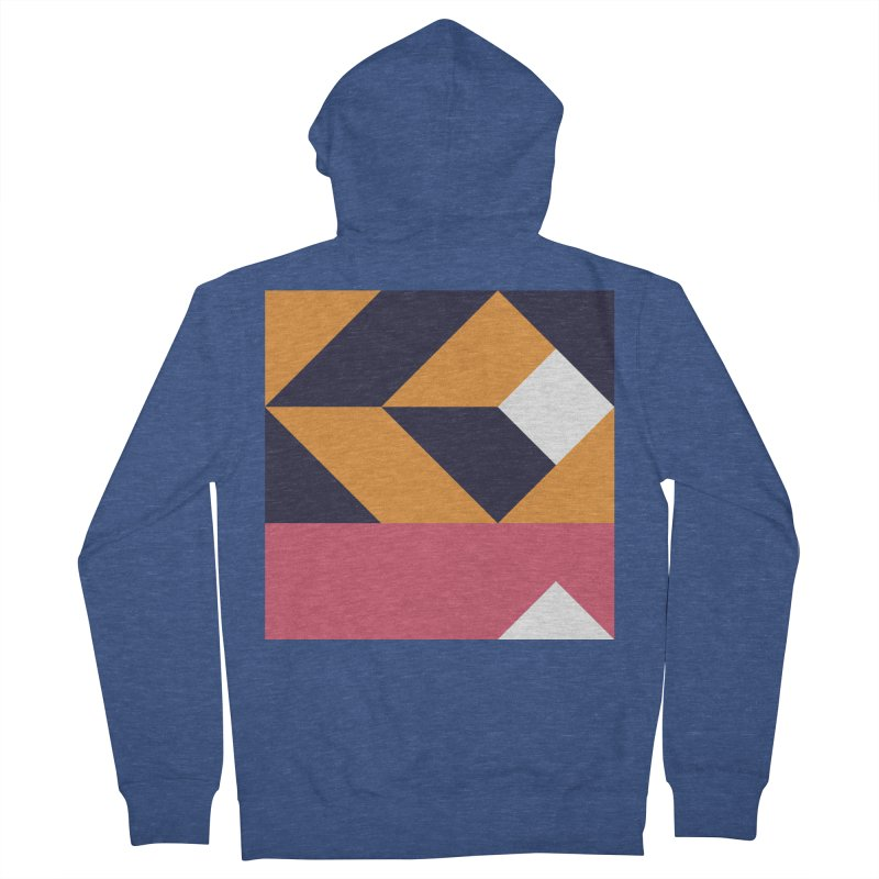 Geometric Design Series 4, Poster 6 Men's French Terry Zip-Up Hoody by Madeleine Hettich Design & Illustration
