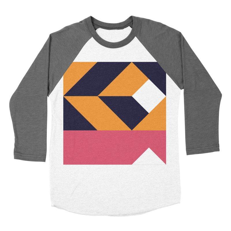 Geometric Design Series 4, Poster 6 Women's Baseball Triblend Longsleeve T-Shirt by Madeleine Hettich Design & Illustration