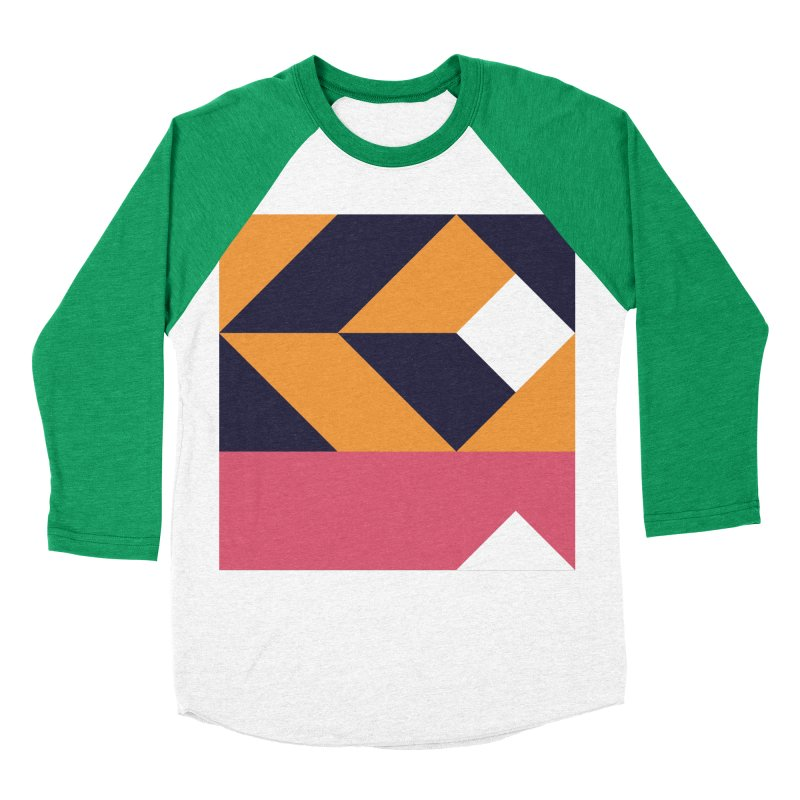 Geometric Design Series 4, Poster 6 Women's Baseball Triblend Longsleeve T-Shirt by Madeleine Hettich Design & Illustration