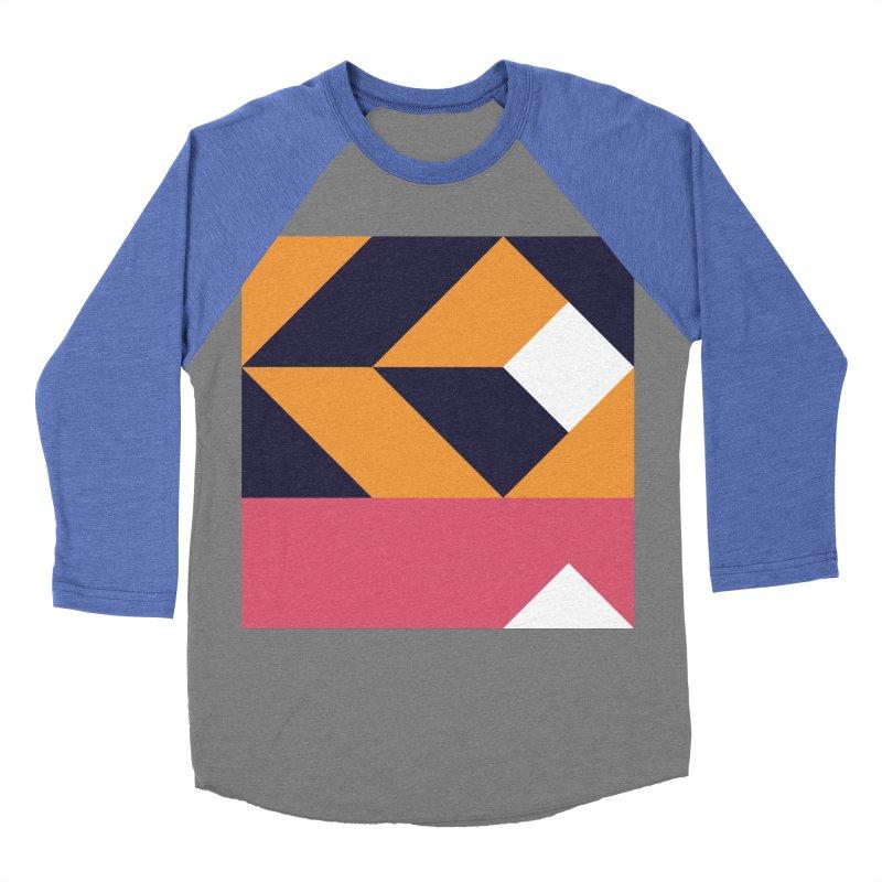 Geometric Design Series 4, Poster 6 Men's Baseball Triblend Longsleeve T-Shirt by Madeleine Hettich Design & Illustration