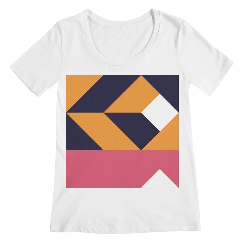 Geometric Design Series 4, Poster 6 Women's Regular Scoop Neck by Madeleine Hettich Design & Illustration
