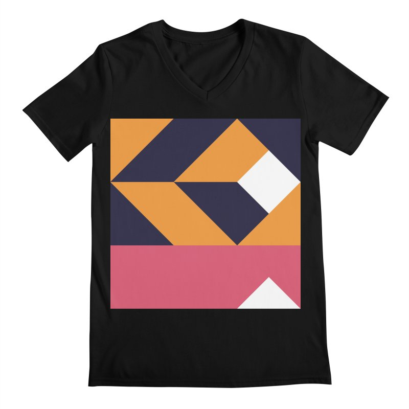 Geometric Design Series 4, Poster 6 Men's Regular V-Neck by Madeleine Hettich Design & Illustration