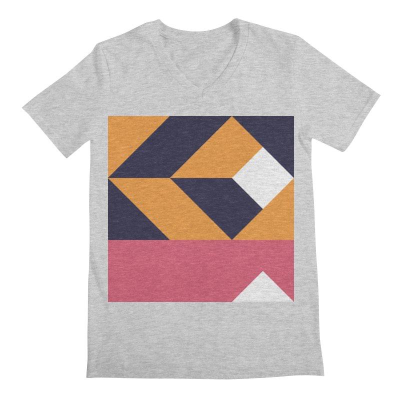 Geometric Design Series 4, Poster 6 Men's Regular V-Neck by Madeleine Hettich Design & Illustration