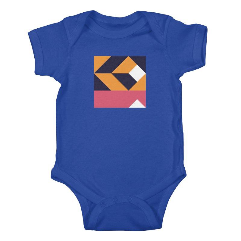 Geometric Design Series 4, Poster 6 Kids Baby Bodysuit by Madeleine Hettich Design & Illustration