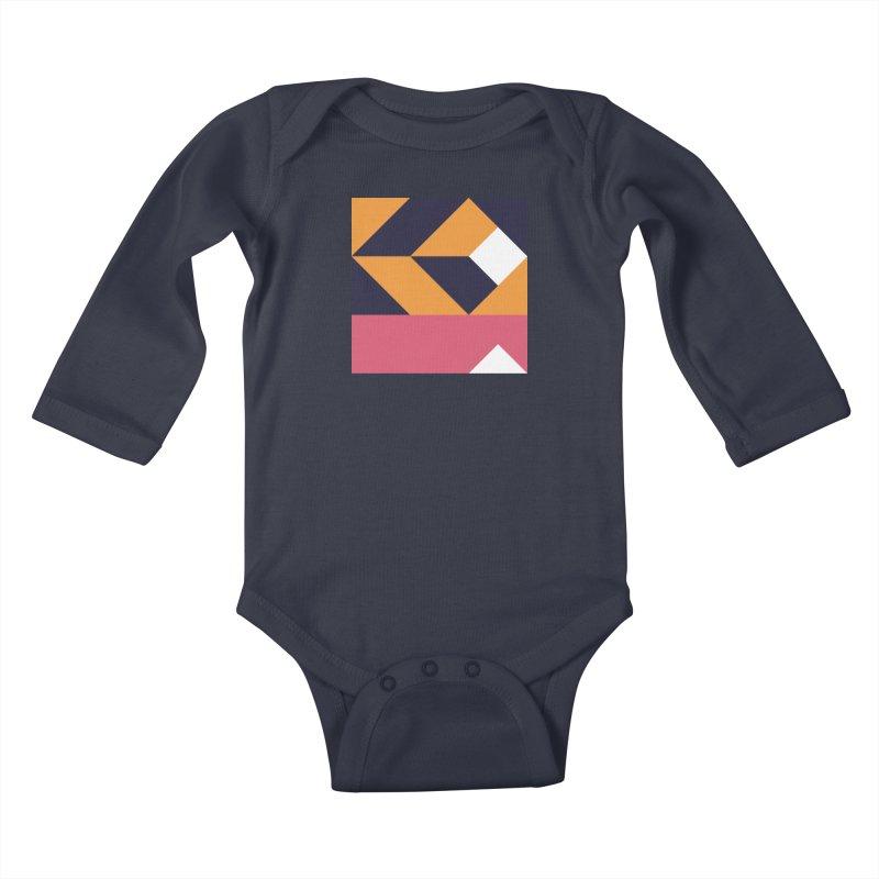 Geometric Design Series 4, Poster 6 Kids Baby Longsleeve Bodysuit by Madeleine Hettich Design & Illustration