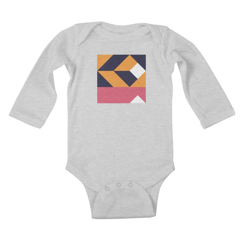 Geometric Design Series 4, Poster 6 Kids Baby Longsleeve Bodysuit by Madeleine Hettich Design & Illustration