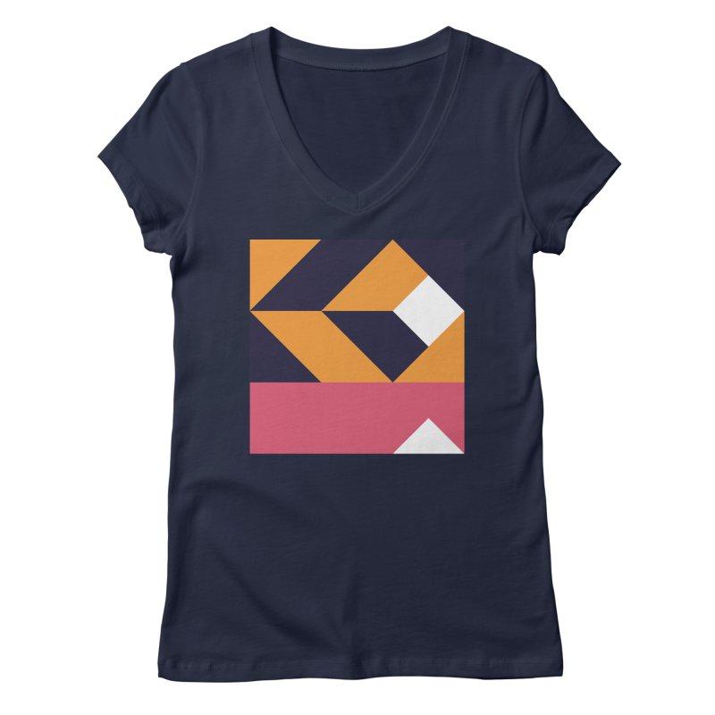 Geometric Design Series 4, Poster 6 Women's V-Neck by Madeleine Hettich Design & Illustration