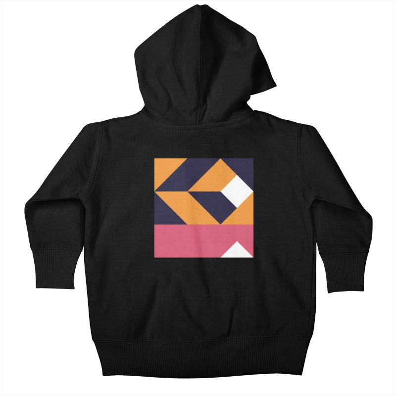 Geometric Design Series 4, Poster 6 Kids Baby Zip-Up Hoody by Madeleine Hettich Design & Illustration
