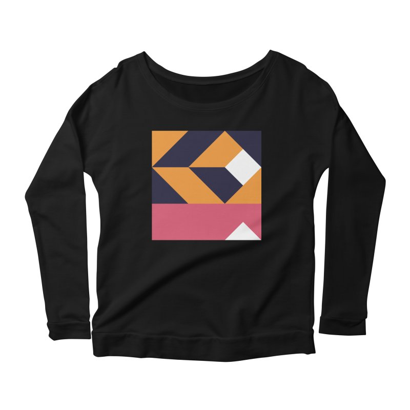 Geometric Design Series 4, Poster 6 Women's Scoop Neck Longsleeve T-Shirt by Madeleine Hettich Design & Illustration