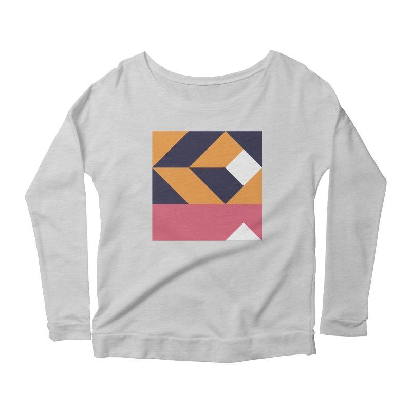 Geometric Design Series 4, Poster 6 Women's Scoop Neck Longsleeve T-Shirt by Madeleine Hettich Design & Illustration
