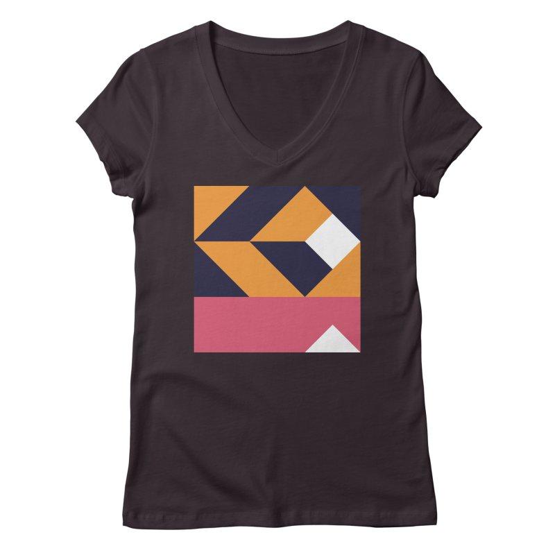 Geometric Design Series 4, Poster 6 Women's Regular V-Neck by Madeleine Hettich Design & Illustration