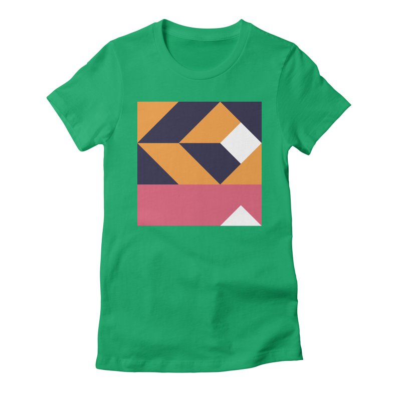 Geometric Design Series 4, Poster 6 Women's Fitted T-Shirt by Madeleine Hettich Design & Illustration