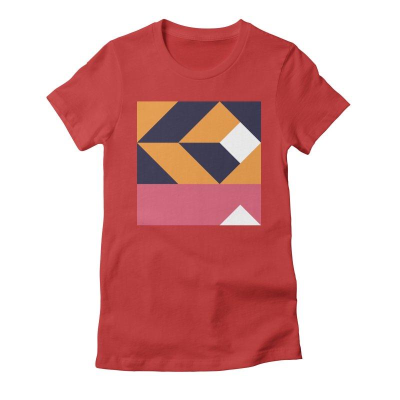 Geometric Design Series 4, Poster 6 Women's Fitted T-Shirt by Madeleine Hettich Design & Illustration