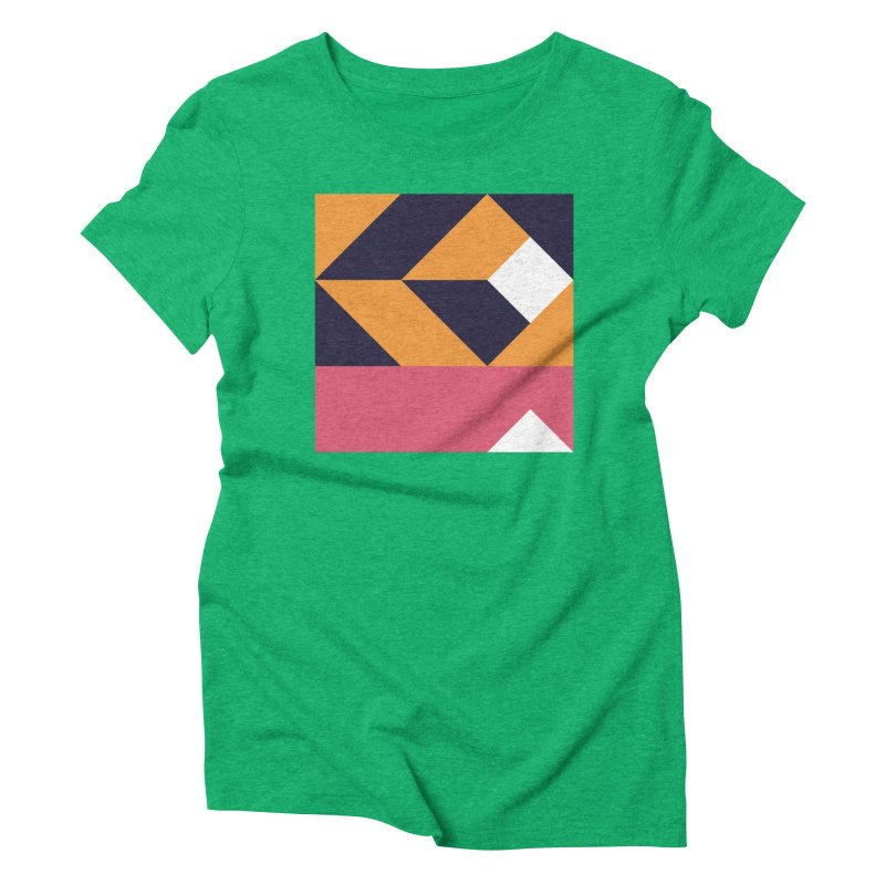 Geometric Design Series 4, Poster 6 Women's Triblend T-Shirt by Madeleine Hettich Design & Illustration