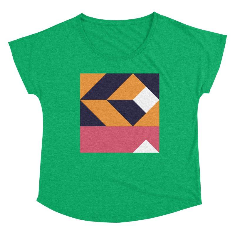 Geometric Design Series 4, Poster 6 Women's Scoop Neck by Madeleine Hettich Design & Illustration