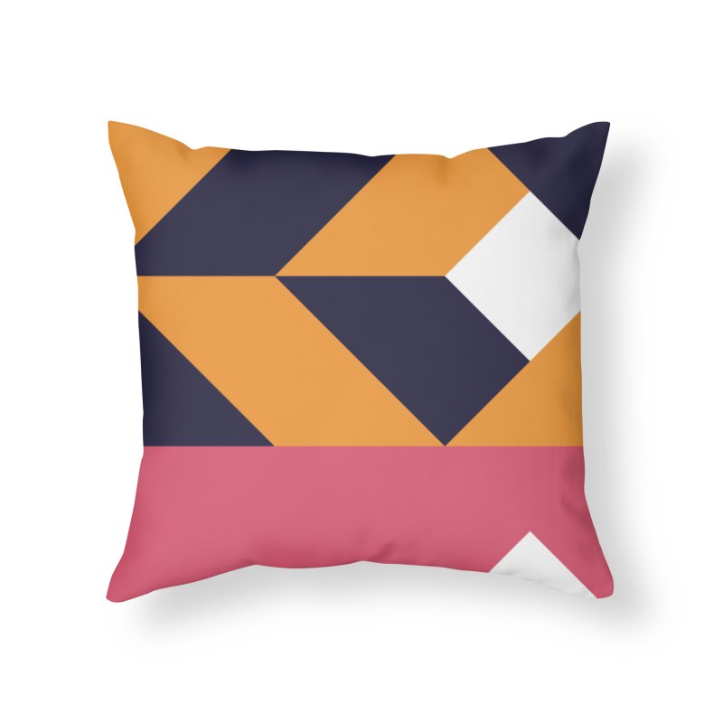 Geometric Design Series 4, Poster 6 Home Throw Pillow by Madeleine Hettich Design & Illustration