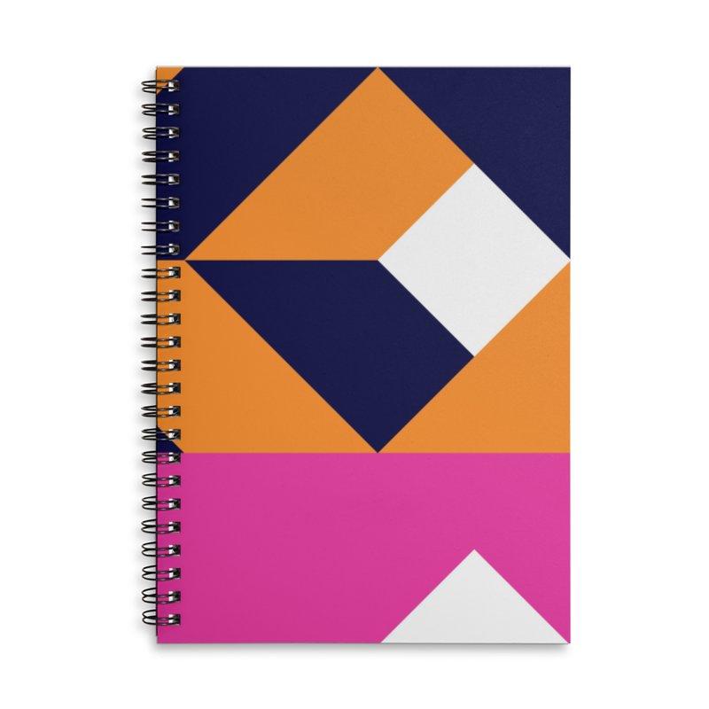 Geometric Design Series 4, Poster 6 (Version 2) Accessories Lined Spiral Notebook by Madeleine Hettich Design & Illustration