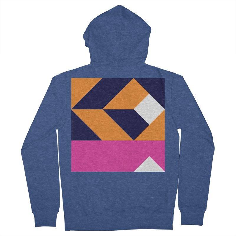 Geometric Design Series 4, Poster 6 (Version 2) Men's French Terry Zip-Up Hoody by Madeleine Hettich Design & Illustration