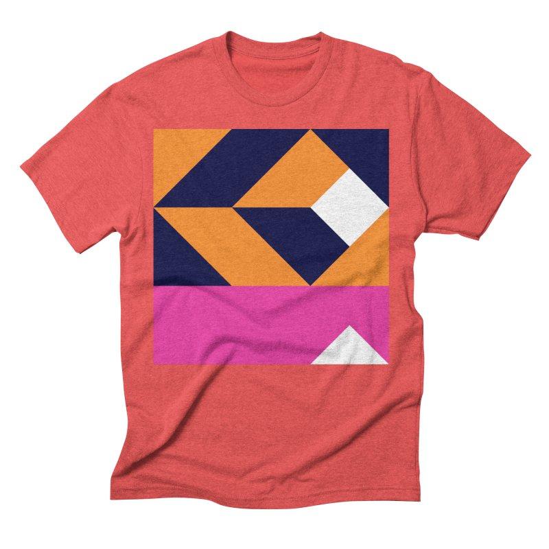 Geometric Design Series 4, Poster 6 (Version 2) Men's Triblend T-Shirt by Madeleine Hettich Design & Illustration