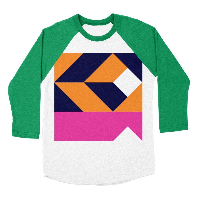 Geometric Design Series 4, Poster 6 (Version 2) Men's Baseball Triblend Longsleeve T-Shirt by Madeleine Hettich Design & Illustration